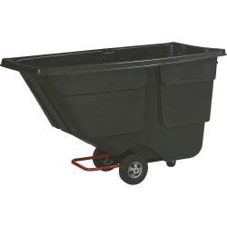 Rubbermaid® Service Tilt Truck, 1 Cubic Yard, Black