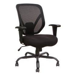 Lorell® SOHO Big & Tall Mesh Back Chair, Black