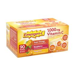 Emergen-C Vitamin C Dietary Supplement Drink Mix, Variety, Case Of 90 Packs