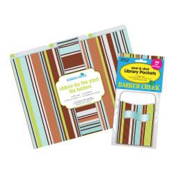 "Barker Creek Folder/Pocket Set, 9"" x 12"", Ribbon By The Yard, Set of 42"