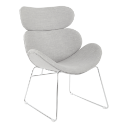 Office Star™ Avenue Six Jupiter Chair, Dove/Chrome
