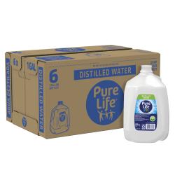 Ozarka® Distilled Water, 1 Gallon, Case Of 6 Bottles