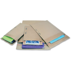 "Jiffy Mailer Jiffy Rigi Bag Mailers - Shipping - #5 - 10 1/2"" Width x 14"" Length - Self-sealing - Kraft, Fiberboard - 150 / Carton - Natural Kraft"