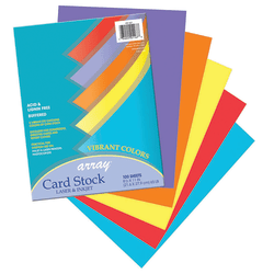 "Pacon® Vibrant Card Stock, 8-1/2"" x 11"", Assorted Colors, Pack Of 100 Sheets"