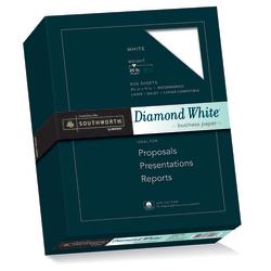 "Southworth® Diamond White® 25% Cotton Business Paper, 8 1/2"" x 11"", 20 Lb, White, Box Of 500"