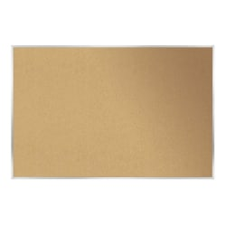 "Ghent Cork Bulletin Board, 18"" x 24"", Aluminum Frame With Silver Finish"