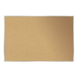 "Ghent Cork Bulletin Board, Natural, 18"" x 24"", Brown, Aluminum Frame"