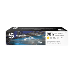 HP PageWide 981Y Extra-High-Yield Ink Cartridge, Yellow, L0R15A