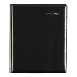 """AT-A-GLANCE® DayMinder Executive Refillable Weekly/Monthly Planner, 7"""" x 8-3/4"""", Black, January to December 2021, G54500"""