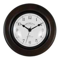 FirsTime & Co.® Evans Wall Clock, Espresso