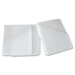 "Smead® Inndura 3-Hole Poly Slash Jackets, 9 1/4"" x 11 1/4"", Clear, Pack Of 5"