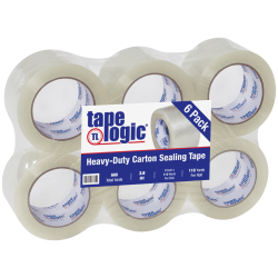 """Tape Logic® Acrylic Sealing Tape, 3"""" Core, 3"""" x 110 Yd., Clear, Pack Of 6"""