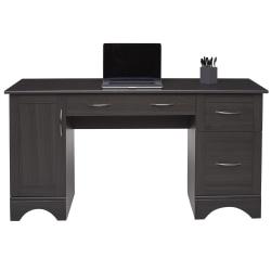 "Realspace® Pelingo 60""W Computer Desk, Dark Gray"