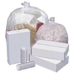"""Highmark™ High-Density Can Liners, 11 Mic, 33 Gallons, 33"""" x 40"""", Natural, Box Of 500"""
