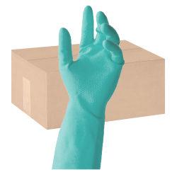 Tronex Flock-Lined Nitrile Multipurpose Gloves, Medium, Green, 24 Per Pack, Case Of 12 Packs