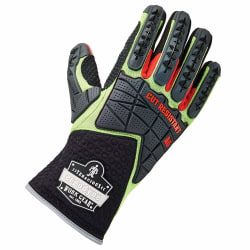 Ergodyne ProFlex 925CR6 Performance Dorsal Impact-Reducing And Cut-Resistance Gloves, XX-Large, Lime