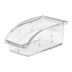 "Akro-Mils Insight Supply Bin, Small Size, 3 1/4"" x 4 1/8"" x 7 3/8"", Clear"
