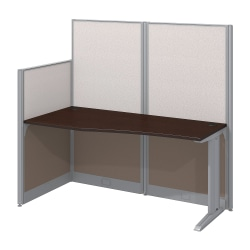 Bush Business Furniture Office In An Hour Straight Workstation, Mocha Cherry Finish, Premium Delivery