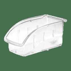 """Akro-Mils Insight Supply Bin, Small Size, 5 1/4"""" x 5 1/2"""" x 10 7/8"""", Clear"""