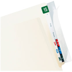 Tabbies Wrap-Around Folder End Tabs, Box Of 100 End Tabs
