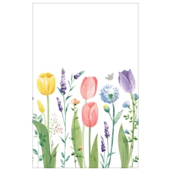 "Amscan Spring Tulip Garden Plastic Table Covers, 54"" x 102"", Multicolor, Set Of 3 Covers"