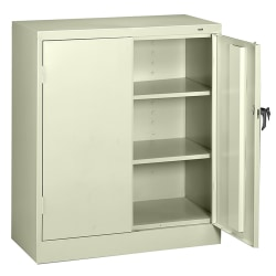 """Tennsco Counter-High Storage Cabinet With Reinforced Doors, 42""""H x 36""""W x 18""""D, Putty"""