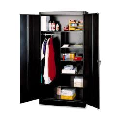 "Tennsco Combination Wardrobe/Storage Cabinet, 72""H x 36""W x 18""D, Black"