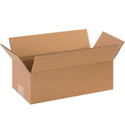 """Office Depot® Brand Long Corrugated Boxes, 12"""" x 5"""" x 4"""", Kraft, Pack Of 25 Boxes"""