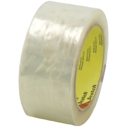"3M™ 3723 Cold Temperature Carton Sealing Tape, 3"" Core, 2"" x 55 Yd., Clear, Case Of 36"