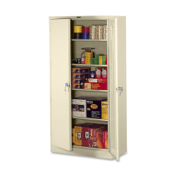 """Tennsco Full-Height Deluxe Storage Cabinet, 78""""H x 36""""W x 24""""D, Putty"""
