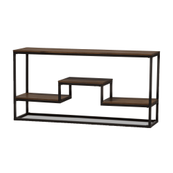Baxton Studio Annika Console Table, Brown/Black