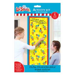 "Amscan Dr. Seuss Activity Sheet Kits, 28"" x 40"", Multicolor, 32 Pieces Per Kit, Set Of 3 Kits"
