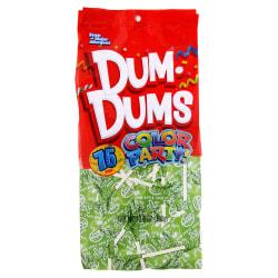 Dum Dums Sour Apple Lollipops, Party Bright Green Color, 12.8 Oz, Bag Of 75, Pack Of 2 Bags