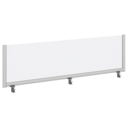 """Bush Business Furniture Desk Divider Privacy Panel, 72""""W, Frosted Acrylic, Standard Delivery"""