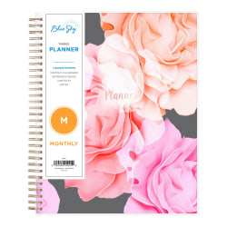 "Blue Sky™ Monthly Planner, 8"" x 10"", Joselyn, January to December 2021, 101395"