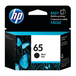 HP 65 Original Ink Cartridge, Black (N9K02AN)