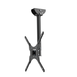 "Loctek Full-Motion Ceiling Mount for Monitors/TVs Up To 55"", Black"