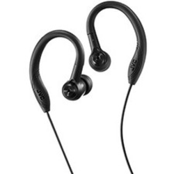 JVC Sweat Proof Sports Design - Stereo - Black - Mini-phone - Wired - Earbud, Over-the-ear - Binaural - In-ear - 3.94 ft Cable