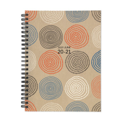 "TF Publishing Medium Academic Weekly/Monthly Planner, 6"" x 8"", Circles, July 2020 To June 2021"