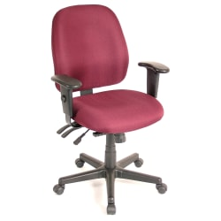 Raynor® 4 x 4 Fabric Task Chair, Burgundy/Black