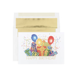 """Custom All Occasion Cards, Birthday Bash Greeting Cards With Envelopes, 7-3/4"""" x 5-3/8"""", Pack Of 25 Cards And Envelopes"""