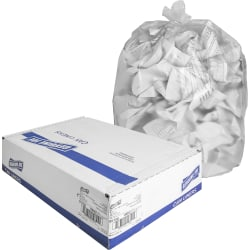 """Genuine Joe High-Density Can Liners, 16 Gallons, 24"""" x 33"""", Clear, Box Of 1,000 Liners"""