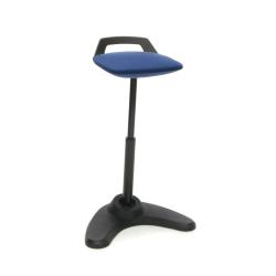 OFM Vivo Adjustable Perch Stool, Blue/Black