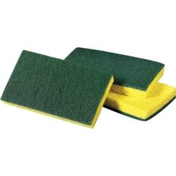 "Scotch-Brite Medium-Duty Scrub Sponges - 3.6"" Width x 6.1"" Length x 700 mil Thickness - 60/Carton - Cellulose, Synthetic Fiber - Yellow, Green"