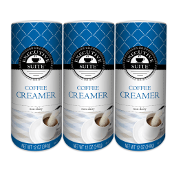Executive Suite Non-Dairy Coffee Creamer, 12 Oz, Pack Of 3 Canisters