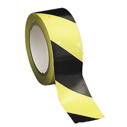 "Tatco Aisle Marking Hazard Tape, 2"" x 108', Yellow/Black"
