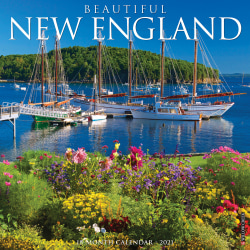 """Willow Creek Press Scenic Monthly Wall Calendar, 12"""" x 12"""", FSC® Certified, Beautiful New England, January to December 2021, 10686"""