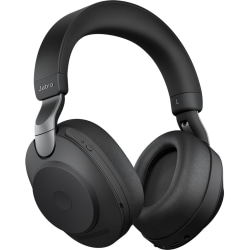 Jabra Evolve2 85 MS Stereo - Headset - full size - Bluetooth - wireless - active noise canceling - 3.5 mm jack, USB-A - black