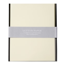 "Sincerely A Collection by C.R. Gibson® Professional Letter Paper With Envelopes, 67 Lb, 6"" x 8"", Ivory, Box Of 27"