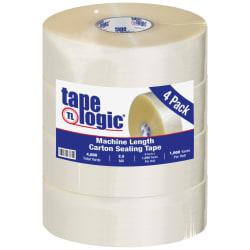 "Tape Logic® #900 Hot Melt Tape, 3"" x 1,000 Yd., Clear, Case Of 4"